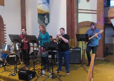 Our musicians, kindly loaned from Lansdowne Church