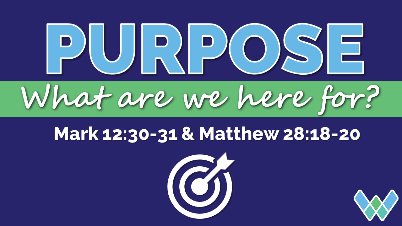 Purpose - what are we here for? Sermon series at West Cliff Baptist